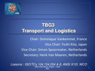 TBG3  Transport and Logistics