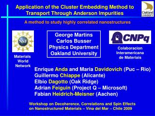 Application of the Cluster Embedding Method to Transport Through Anderson Impurities