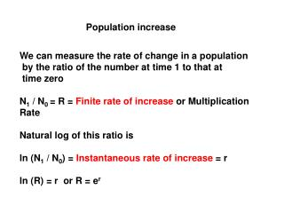 Population increase