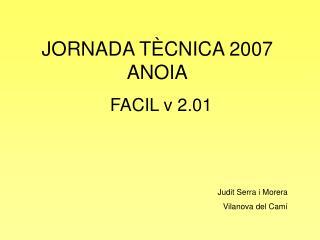 JORNADA TÈCNICA 2007 ANOIA