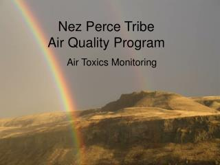 Nez Perce Tribe Air Quality Program