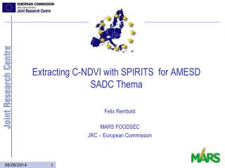 Extracting C-NDVI with SPIRITS  for AMESD SADC  Thema