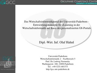 Dipl.-Wirt. Inf. Olaf Hahnl