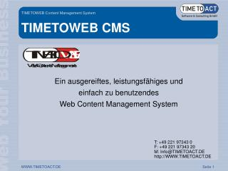 TIMETOWEB CMS