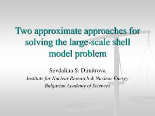 Two approximate approaches for solving the large-scale shell model problem