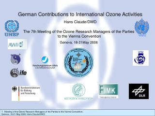 The 7th Meeting of the Ozone Research Managers of the Parties  to the Vienna Convention