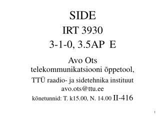 SIDE IRT 3930 3-1-0, 3.5AP  E