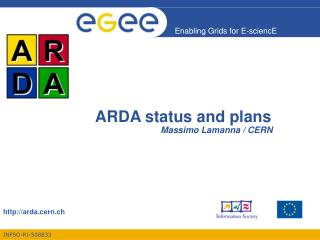 ARDA status and plans