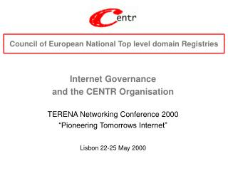 Council of European National Top level domain Registries