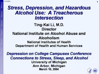 stress depression alc