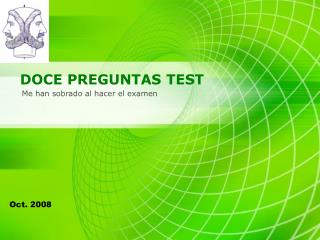 DOCE PREGUNTAS TEST