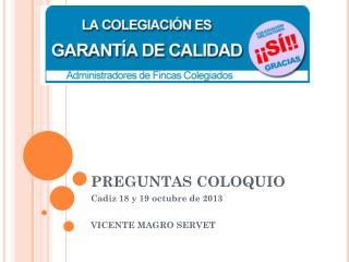 PREGUNTAS COLOQUIO
