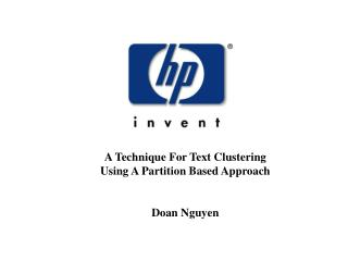 A Technique For Text Clustering Using A Partition Based Approach Doan Nguyen