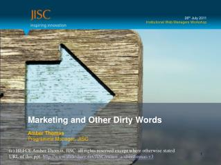 Marketing and Other Dirty Words