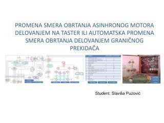 Student:  Slavi ša Puzović