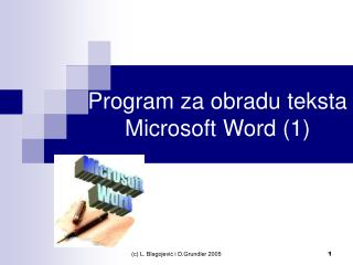 Program za obradu teksta Microsoft Word (1)