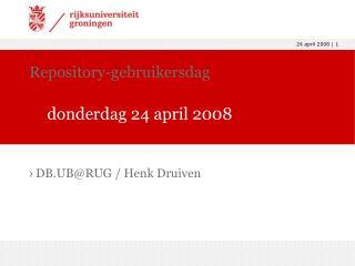 Repository-gebruikersdag