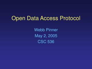 Open Data Access Protocol