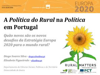 A  Política do Rural  na  Política  em  Portugal
