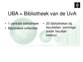 UBA = Bibliotheek van de UvA