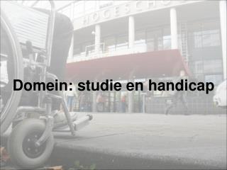 Domein: studie en handicap