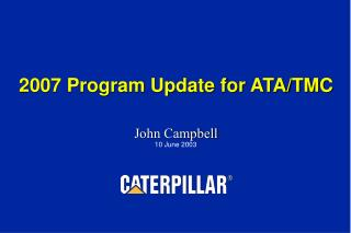 2007 Program Update for ATA/TMC