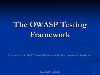The OWASP Testing Framework