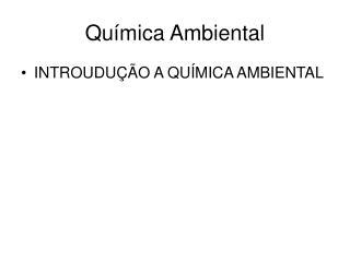 Qu�mica Ambiental