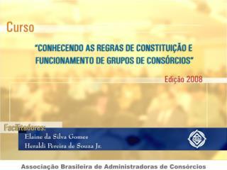 SISTEMA DE CONSÓRCIOS Uma Criação Brasileira