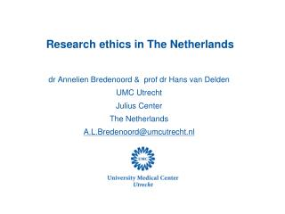 Research ethics in The Netherlands