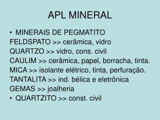 APL MINERAL