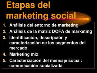 Etapas del marketing social