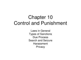 Chapter 10 Control and Punishment