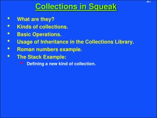 Collections in Squeak