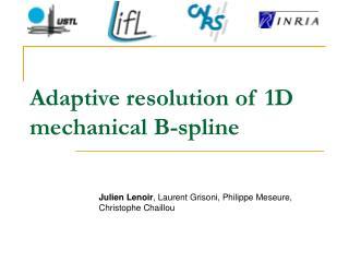 Adaptive resolution of 1D mechanical B-spline