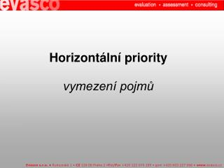 Horizontální priority  vymezení pojmů