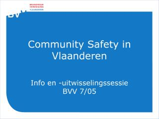 Community Safety in Vlaanderen