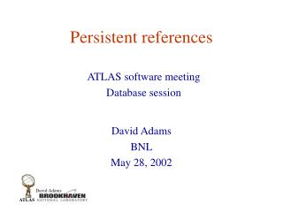 Persistent references