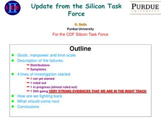 Update from the Silicon Task Force