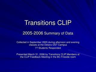 Transitions CLIP
