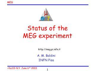 Status of the  MEG experiment
