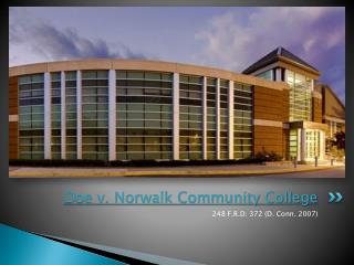 Doe v. Norwalk Community College