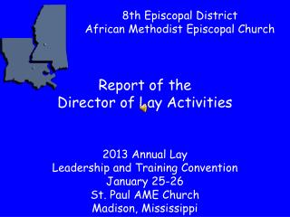 Report of the  Director of Lay Activities