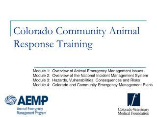 Colorado Community Animal Response Training