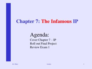 Chapter 7:  The Infamous  IP