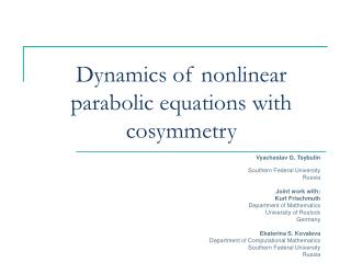 Dynamics of nonlinear parabolic equations with cosymmetry