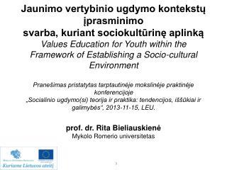 Švietimo asociacijų stiprinimo programa  Lietuvos socialinių pedagogų asociacijos projektas