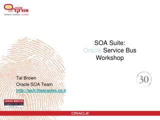 SOA Suite:  Oracle Service Bus Workshop