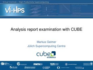 Analysis report examination with CUBE