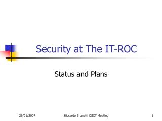 Security at The IT-ROC